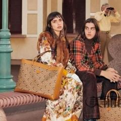 gucci米奇花纹系列 超大的tote购物袋