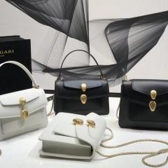 宝格丽大王联名款双蛇头包  经典黑白色 手提包链条包两种款式