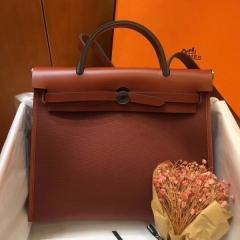 棕色 她的包HERBAG 爱马仕帆布包