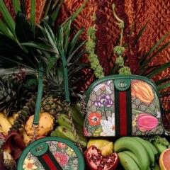 gucci flora花卉系列圆饼包和贝壳包