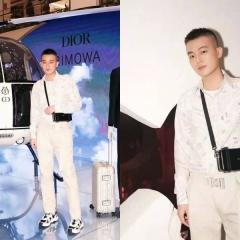 欧豪演绎dior rimowa联名款盒子包