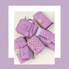 款式欣赏 2020春夏最迷人的香芋紫色的香奈儿包包