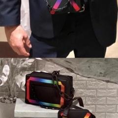 LV2019男装秀走秀款 MINI SOFT TRUNK炫彩软盒子包