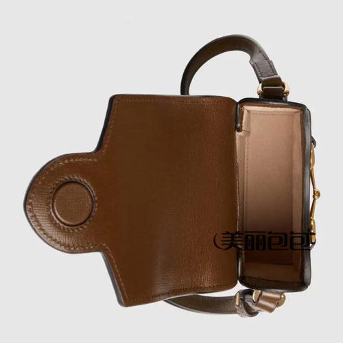 gucci 1955马衔扣系列双G帆布手机包